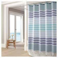 Shower Curtain Blue Brown Kassatex Shower Curtains U0026 Liners Target