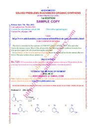 solved problems in advanced organic synthesis