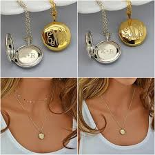 monogrammed locket shop monogram locket necklace on wanelo
