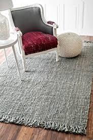 Area Rug Gray Amazon Com Nuloom Grey Hand Woven Chunky Loop Jute Area Rug 6 U0027 X