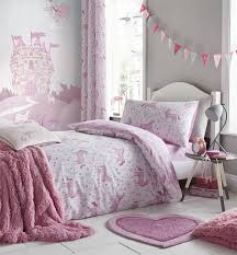 girls bedding pink girls folk unicorn duvet cover set single double cot bed bedding