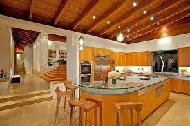 nice house interior design decorating big rounded kitchen islands beautiful wood