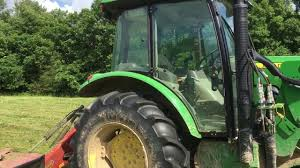 how to cut hay for baling john deere 5100 with vicon hay cutter