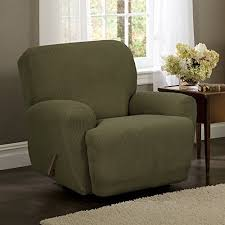 green chair slipcover green recliner cover amazon com