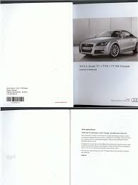 audi tt tts ttrs coupé owners manual anti lock braking system