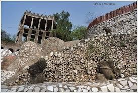 waste to creation rock garden chandigarh