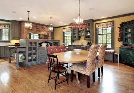 simple kitchen island with oak wooden table and oak wooden table