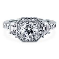 cubic zirconia halo engagement rings sterling silver cubic zirconia cz halo deco engagement