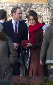 Englefield Berkshire The Duke And Duchess Of Cambridge Leave Church On Christmas Day