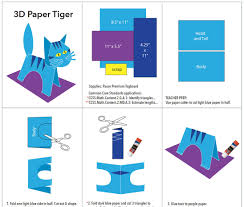 3d paper tiger art projects for kids