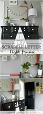 diy scrabble letter light frame