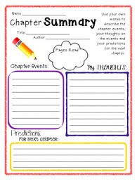 chapter summary template by cathryn elliott teachers pay teachers