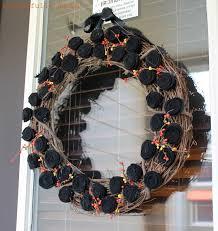Fall Halloween Wreaths by Wonderfully Made Halloween Felt Flower Wreath