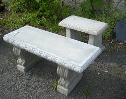 cement table and bench garden tables and benches concrete decorative bench portland