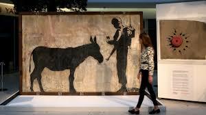 west banksy artist s donkey mural gets uk display itv news
