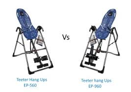 Teeter Hang Ups Ep 950 Inversion Table by The Teeter Hang Ups Ep 560 Vs Ep 960 Best Inversion Tables
