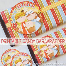 christmas nativity candy bar wrapper printable my computer is