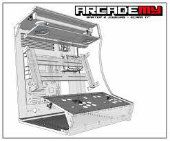 arcade en bois vue 3d technique du kit bois plexi pour la borne d u0027arcade bartop 2