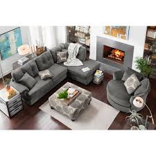 value city sectional sofas cordelle 2 piece sectional with right facing chaise gray city