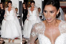 wedding dress daily pictures of christine bleakley s wedding dress stuns
