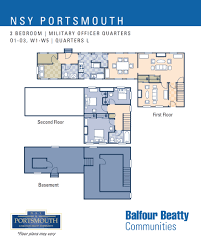 Nu River Landing Floor Plans Nsy Portsmouth U2013 Military Officers Housing 3 Bedroom Floor Plan