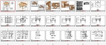 12x14 timber frame plan porch pavilion and garage pergola