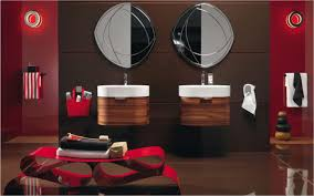 cool ideas red and bathroom decor creative design