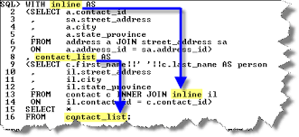 sql query join tutorial inline views at database tutorial