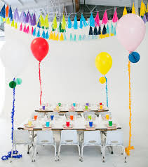 How To Make Birthday Decorations At Home Modern Rainbow 5th Birthday Party Kids Birthday Parties 100