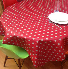 red white polka dot table covers french cotton and coated tablecloths from provence