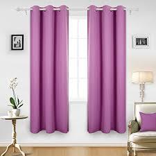 Fuschia Blackout Curtains Kids Pink Room Curtains Amazon Com