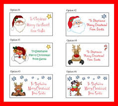 personalized christmas for kids personalized christmas santa gift labels for kids christmas