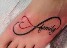 black family letter infinity design on