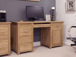 Modern Oak Furniture Eton Solid Oak Furniture Large Office Computer Desk