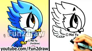 cartoon cockatiel how to draw cute cartoons how to draw a bird blue jay art
