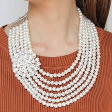 trendy pearl necklace images Manilai trendy multi layer simulated pearl necklaces for women jpg