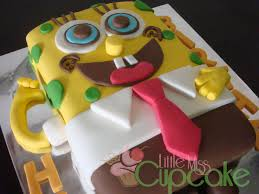 spongebob fondant cake little miss cupcake