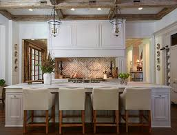 brick backsplash kitchen traditional white kitchen with brick backsplash home bunch