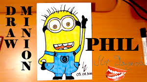 how to draw a minion easy for kids phil mrusegoodart youtube