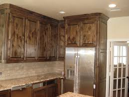 Distressed Wood Kitchen Cabinets Creating Distressed Wood Cabinets Only With Paint And Wax Homesfeed