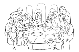 last supper coloring pages shimosoku biz
