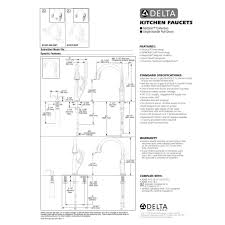 delta touch2o kitchen faucet delta faucet 9192t sd dst addison polished chrome pullout spray