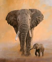 acrylic paintings of elephants african elephants painting david stribbling