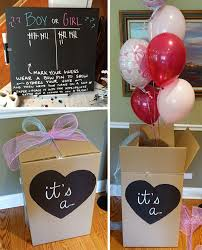 gender reveal balloons in a box gender reveal party pretty neat living