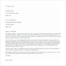 resignation letter nursing job resignation letter free download