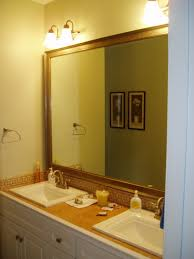How To Frame A Bathroom Mirror With Crown Molding Marvelous Trim Around Bathroom Mirror And Add A Wood Frame Around