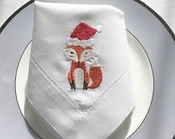 Fine Table Linens by Christmas Napkins Set Of 6 Pcs Custom Fine Table Linens