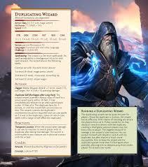 monster duplicating wizard unearthedarcana
