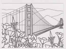 printable coloring pages golden gate bridge