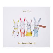 meri meri rabbit meri meri easter bunny egg decorating kit thetot